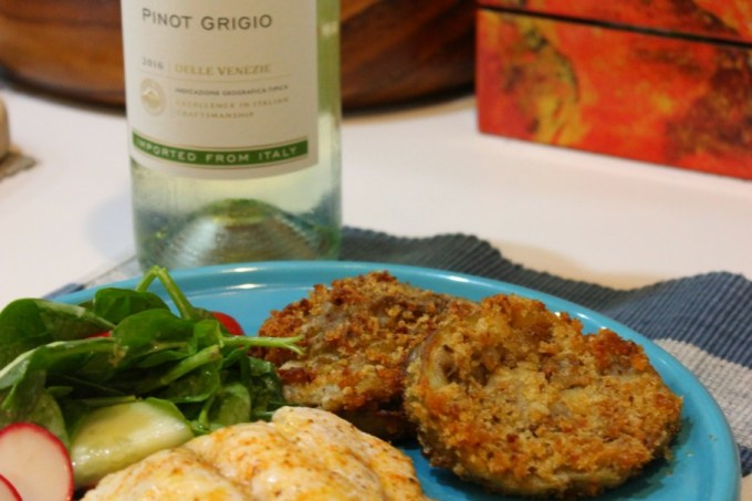 Simple Lemon Old Bay Baked Fish to Celebrate National Pinot Grigio Day
