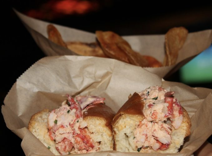 The Tuck Room Lobster Roll and Old Bay Potato Chips