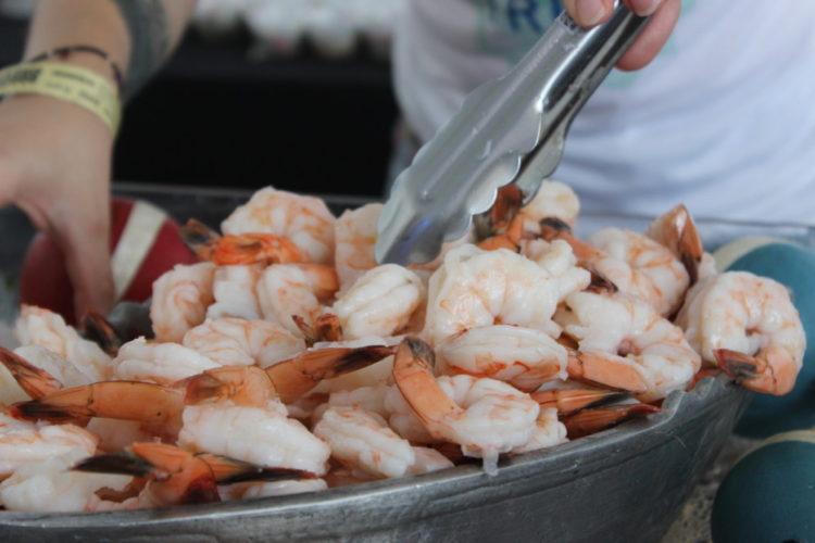 South Beach Seafood Festival Papa's Raw Bar Shrimp Cocktail