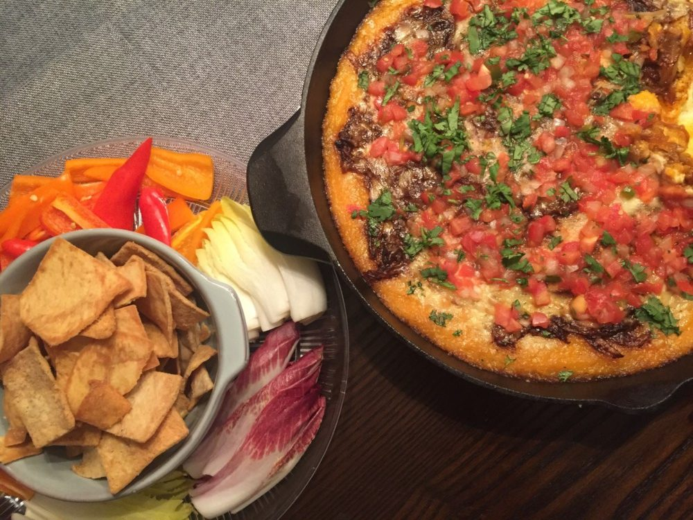 Recipe for Butternut Squash Queso Fundido Dip