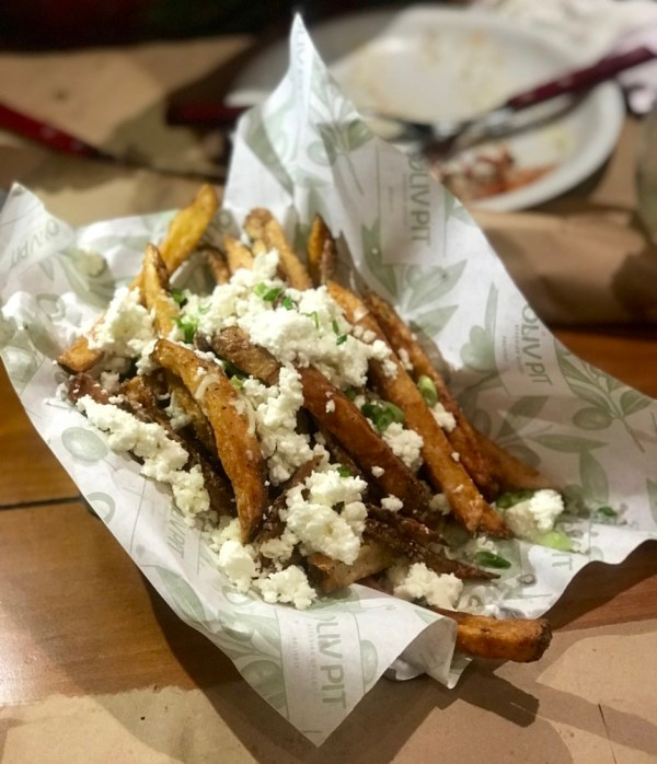 Oliv Pit Boca Raton, Fries with Feta