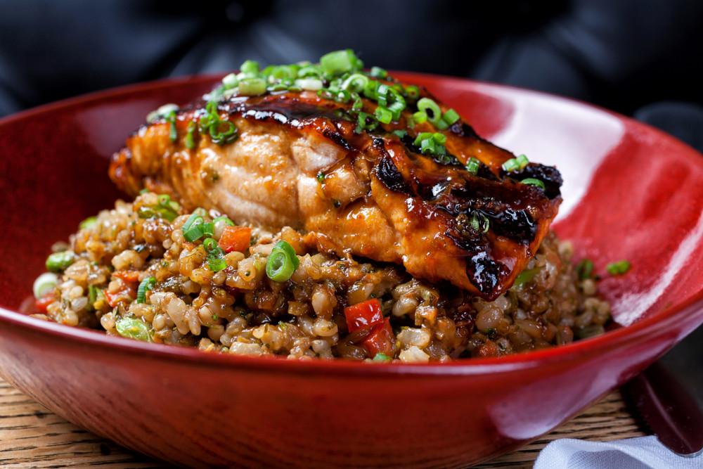 ROK:BRGR Grilled Salmon Buddha Bowl