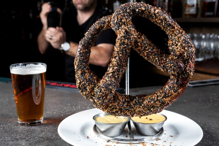 "ROK:BRGR Giant ""Everything"" Pretzel"