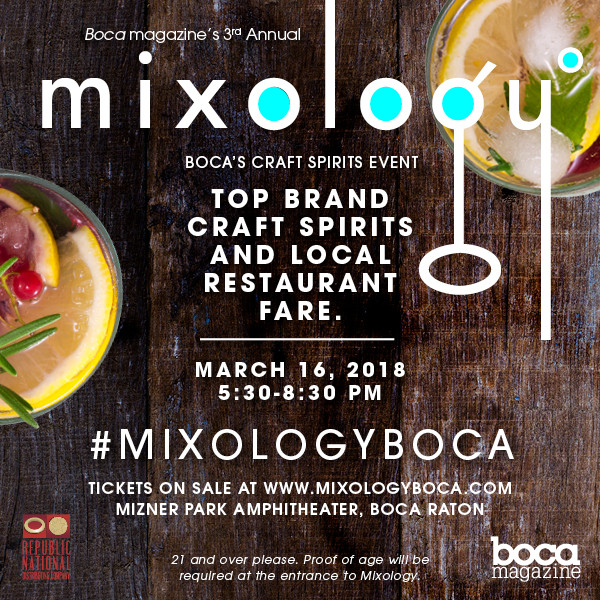 Boca Raton Magazine's Third Annual Mixology: The Craft Spirits Event