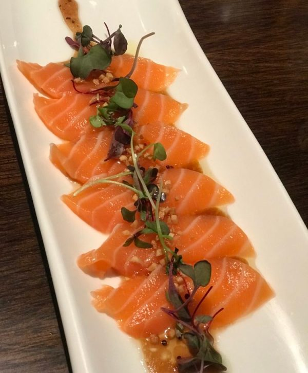 Saiko-i Sushi Lounge and Hibachi Boca Raton, Salmon Carpaccio