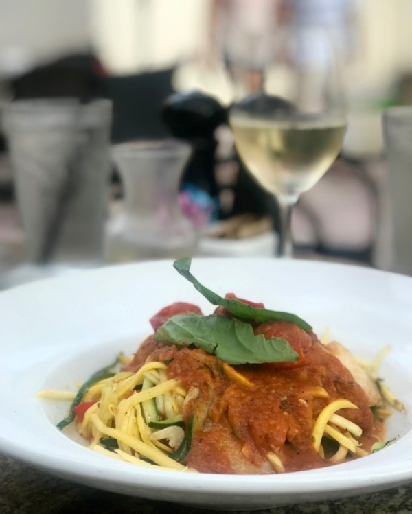 Max's Grille Boca Raton, Zoodles Shrimp Primavera