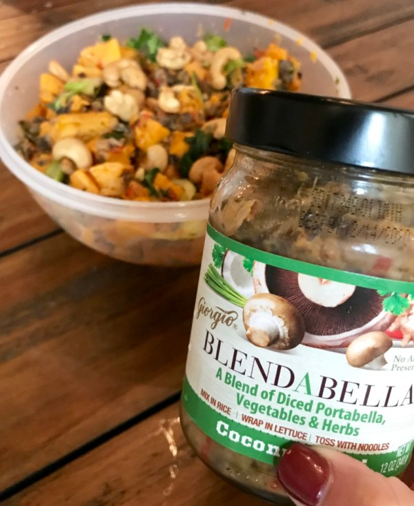 Coconut Thai Sweet Potato Salad with BLENDABELLA