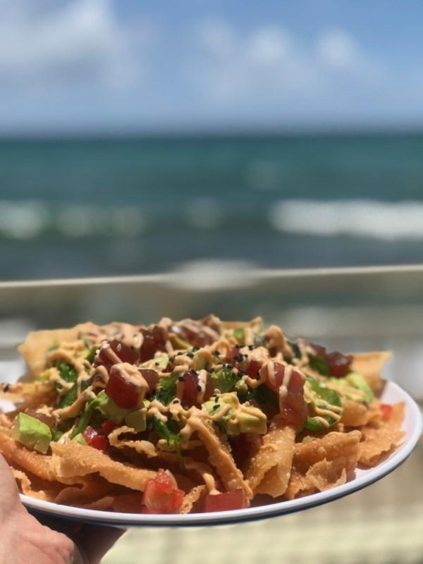 Eau Palm Beach Resort & Spa, Spicy Tuna Nachos
