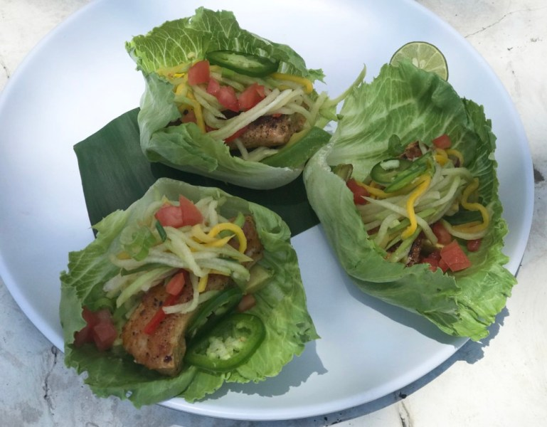 Eau Palm Beach Resort & Spa, Mahi Lettuce Cup Tacos