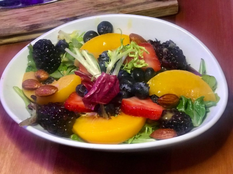 The Balcony Las Olas, Peach and Berry Salad