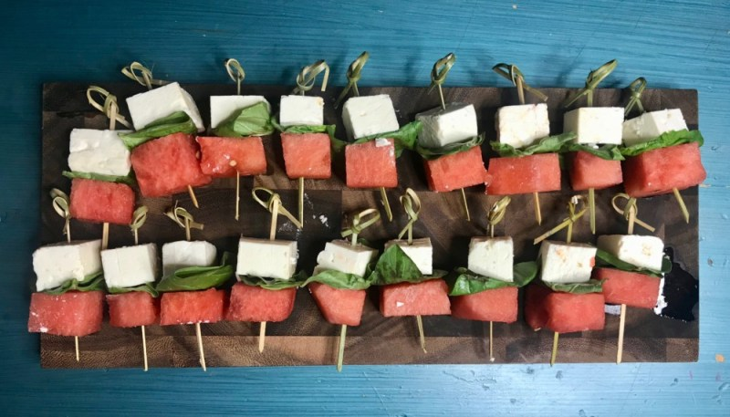Fresh From Florida, Watermelon-Feta Skewers