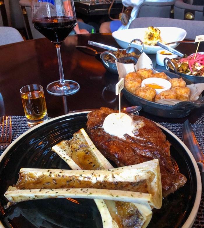 Meat Market Palm Beach, Strip Steak and Roasted Bone Marrow