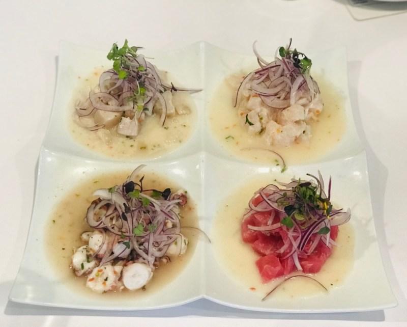 Inkanto Peruvian Cuisine, Ceviche Sampler
