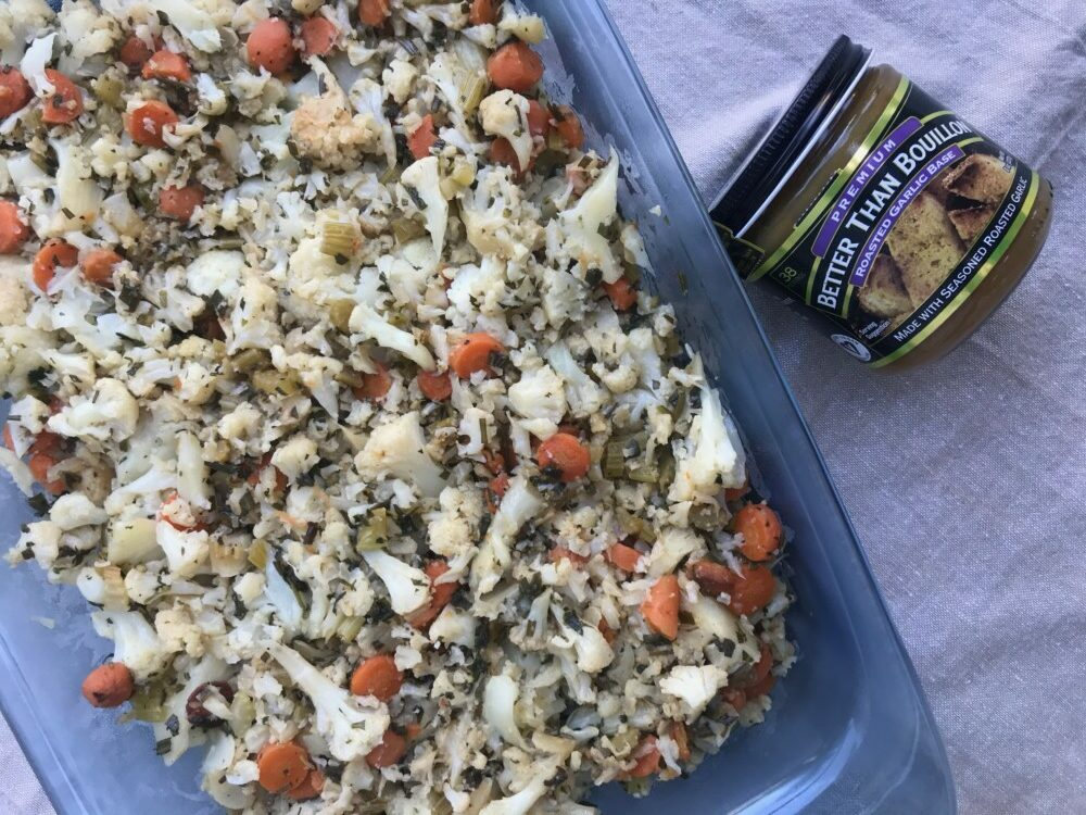 Keto-Friendly Cauliflower Stuffing with Better Than Bouillon