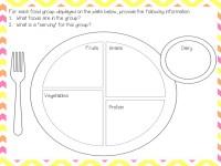 √ My Plate Worksheet