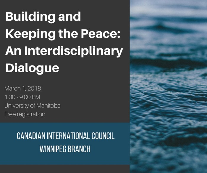 OPPORTUNITY: Building and Keeping the Peace: An Interdisciplinary Dialogue (conference)