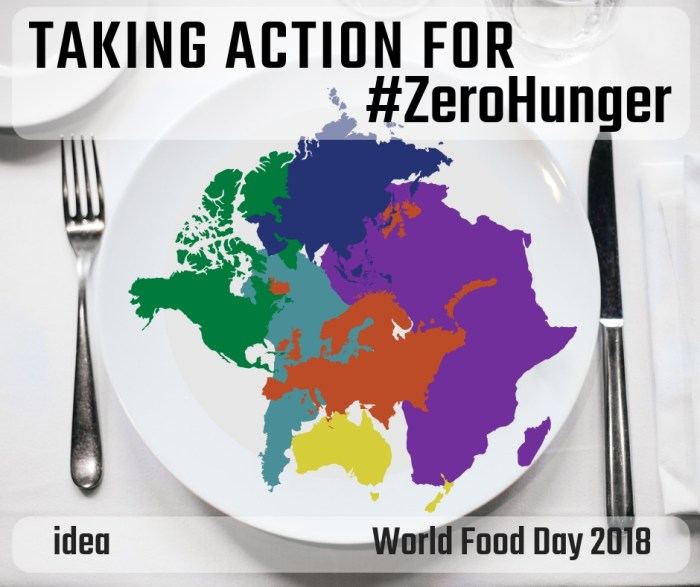IDEA: Taking Action for #ZeroHunger (#WFD2018)