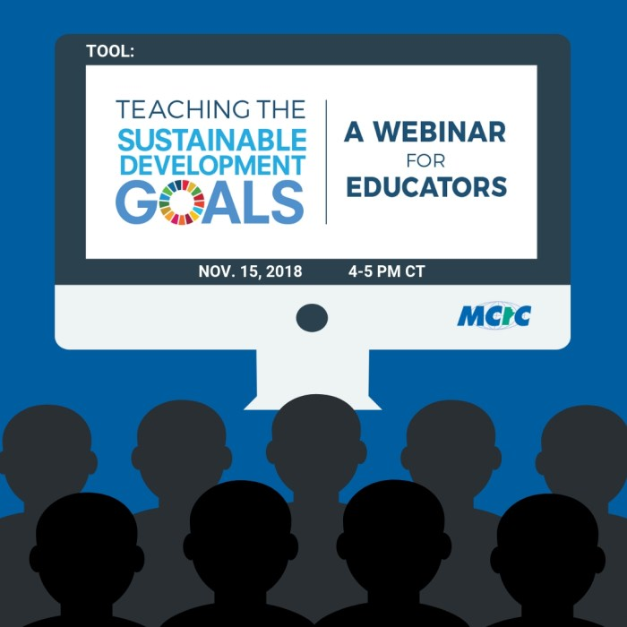 TOOL: Free Educator Webinar – Teaching the Sustainable Development Goals