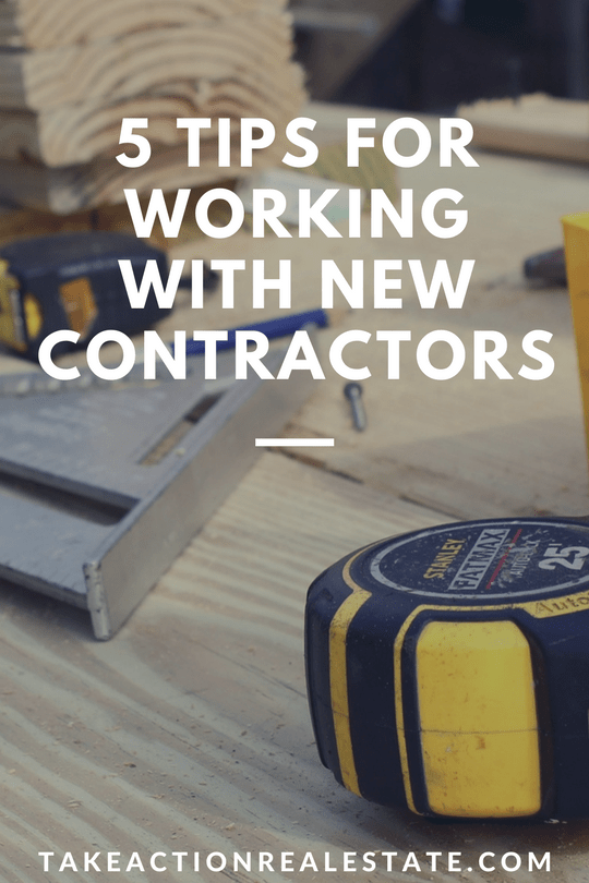 working with contractors