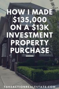 make cash investment property