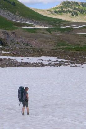 Traversing the Snow Fields of Panhandle Gap