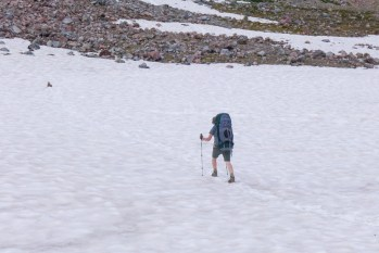 Traversing the Snow Fields to Panhandle Gap