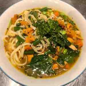 Salmon-Vegetable Udon
