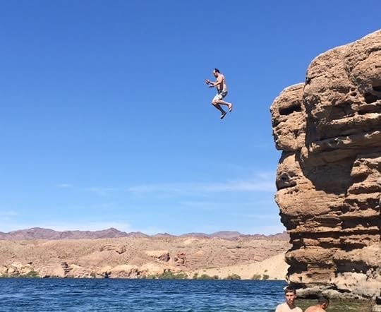 Cliff Jumping at Nelson's Landing on the Colorado River south of Las Vegas
