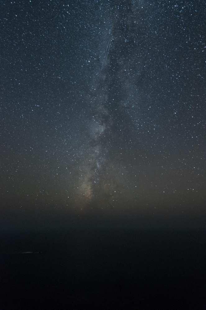 Milky Way galaxy over Big Sur California. Pacific Ocean. Constellations. Stars. Starry night. Dark sky. Dark skies. long exposure.