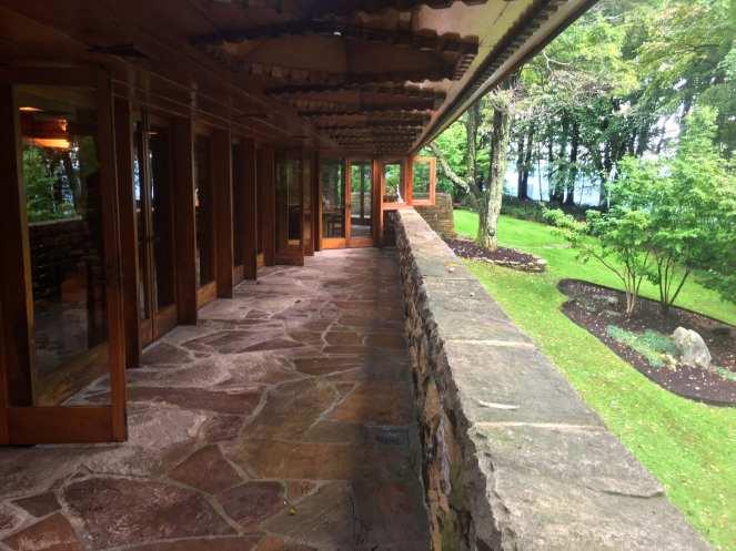 Sandstone balcony Frank Lloyd Wright Hagan House Kentuck Knob Ohiopyle State Park Laurel Highlands