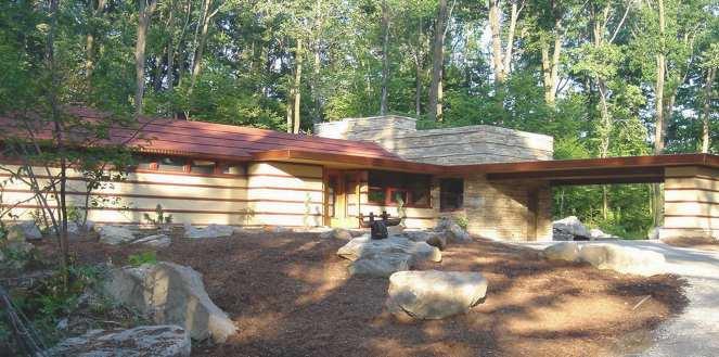 Duncan House by Frank Lloyd Wright near Ohiopyle State Park Laurel Highlands Pennsylvania