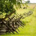 Gettysburg Battlefield old wooden fence