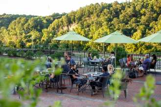 El Jefe Garaje outdoor dining with a view in Lynchburg, Virginia