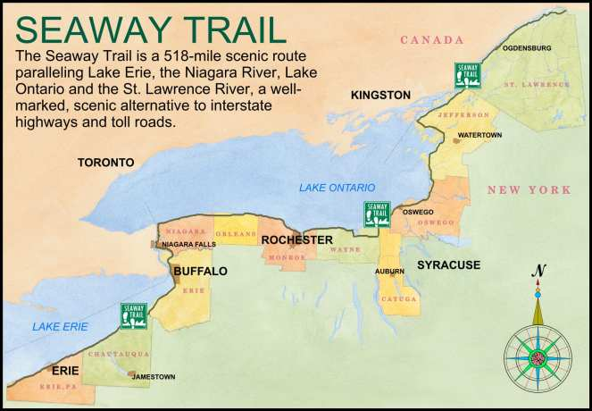Erie Seaway Trail map