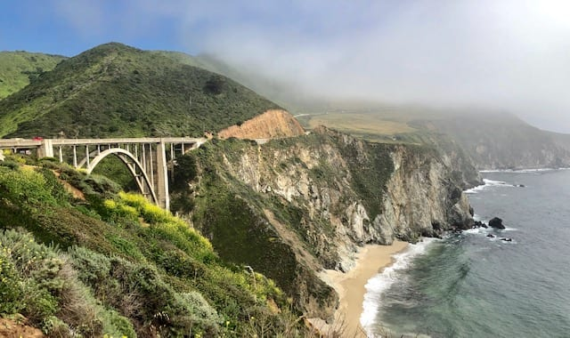 Bixby Bridge on the Pacific Coast Highway in Big Sur California
