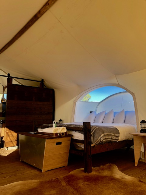 Under the Canvas tent hotel in Grand Canyon National Park