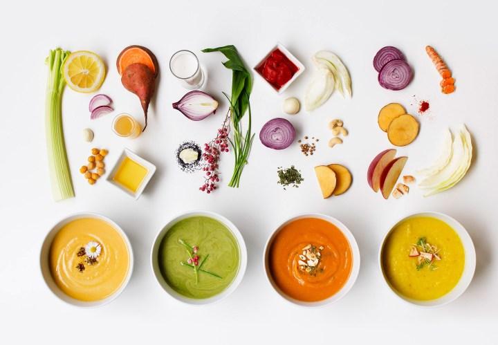 Mahlzeit aus meiner veganen Suppenküche