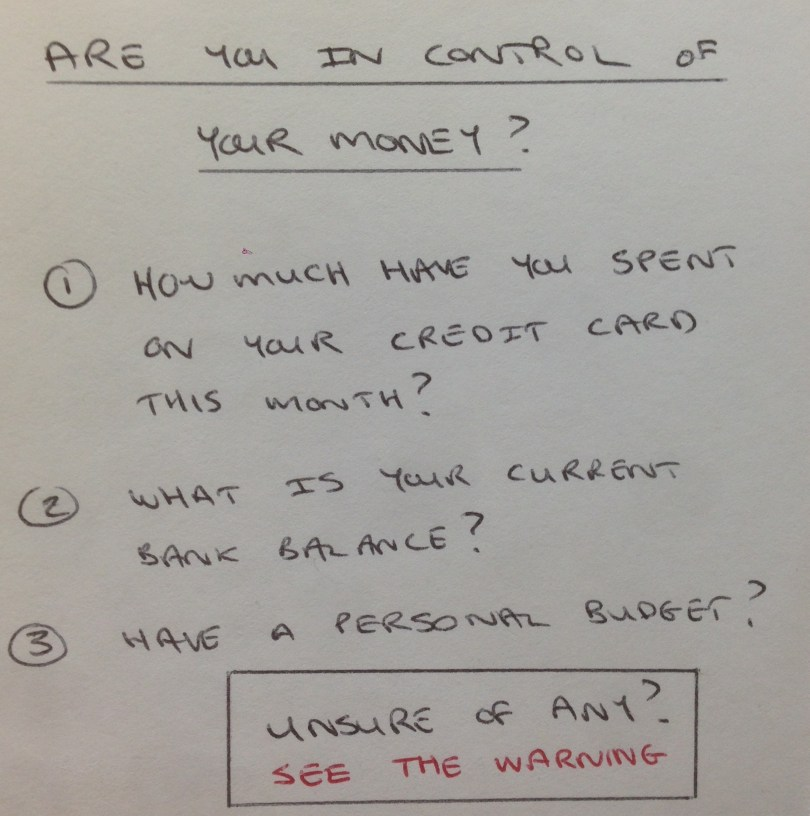 Are you in control of your money?