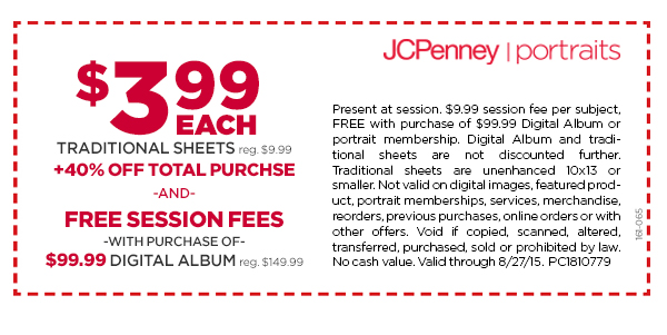 jcpenney portrait coupon codes