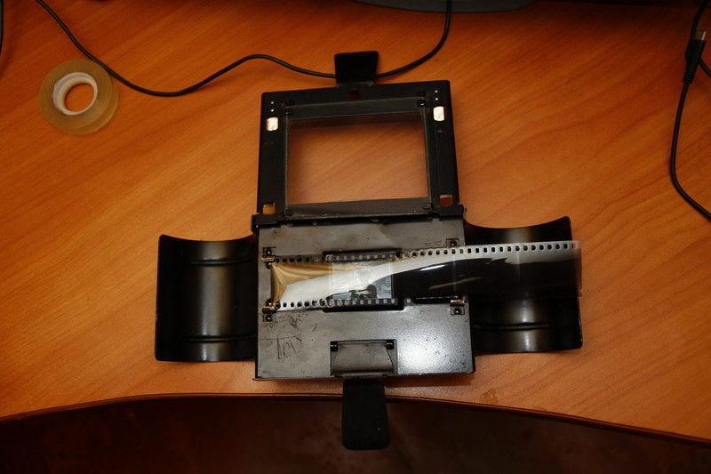 места сканирование негативных фотопленок снялась