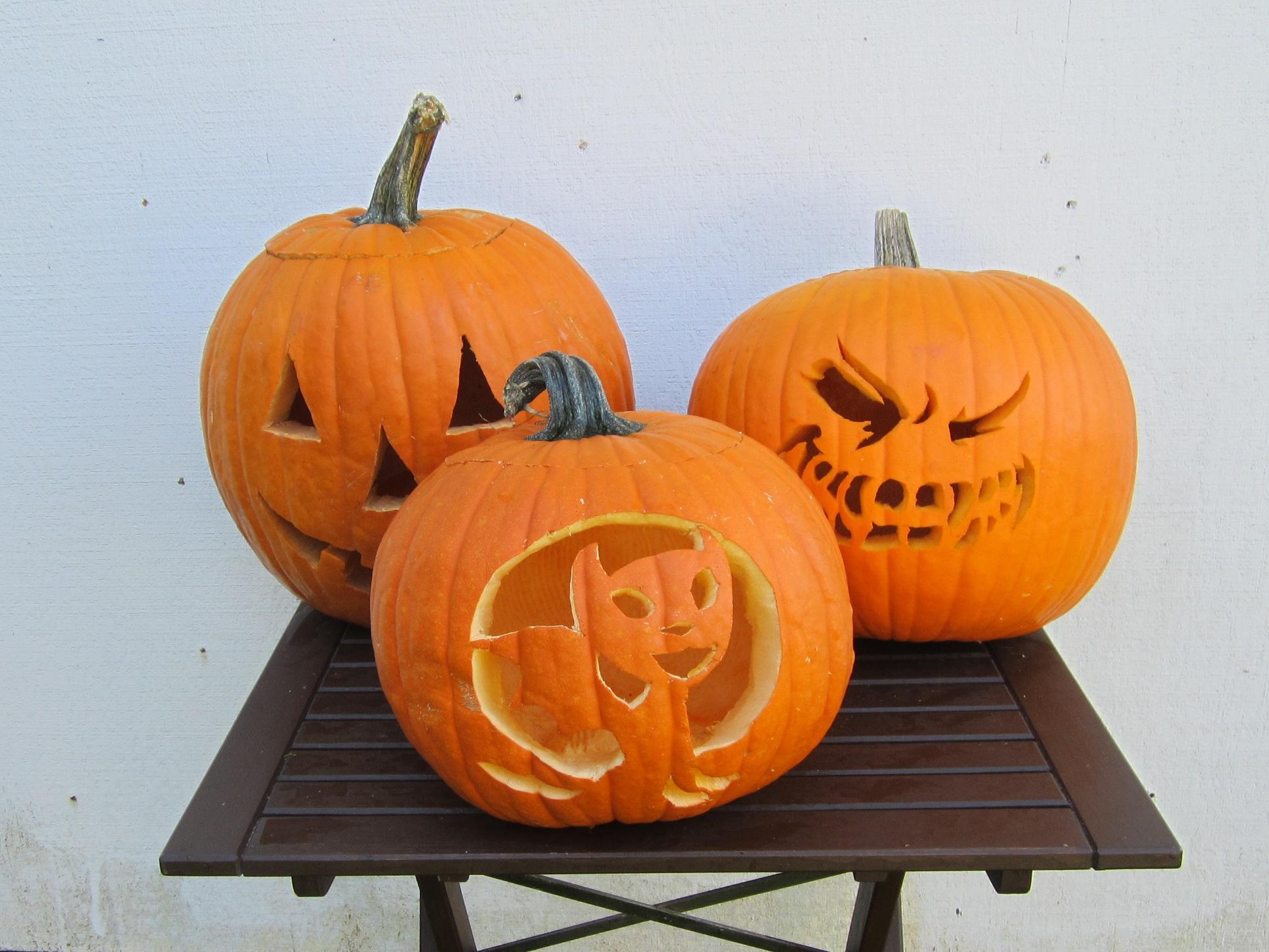 2011年ハロウィーンの反省 かぼちゃ彫りの裏技公開!