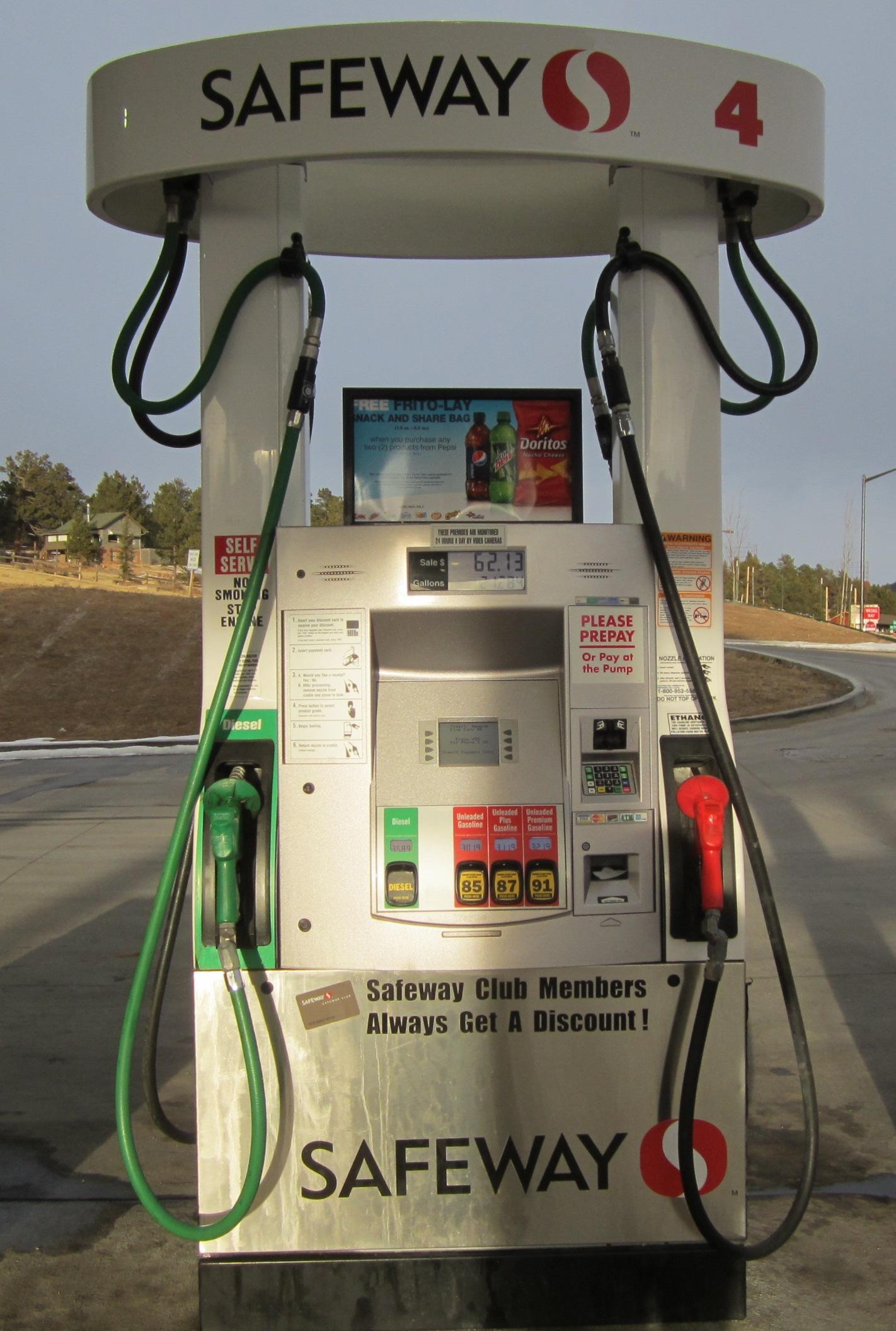 アメリカのガソリンスタンド 間違い探し!