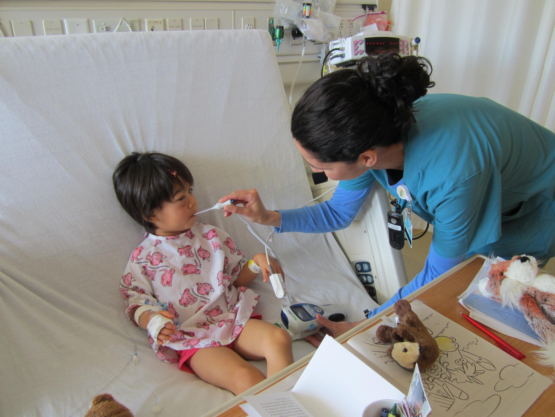 アメリカで子供が入院