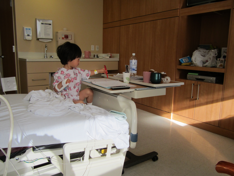 アメリカで子供が入院 2