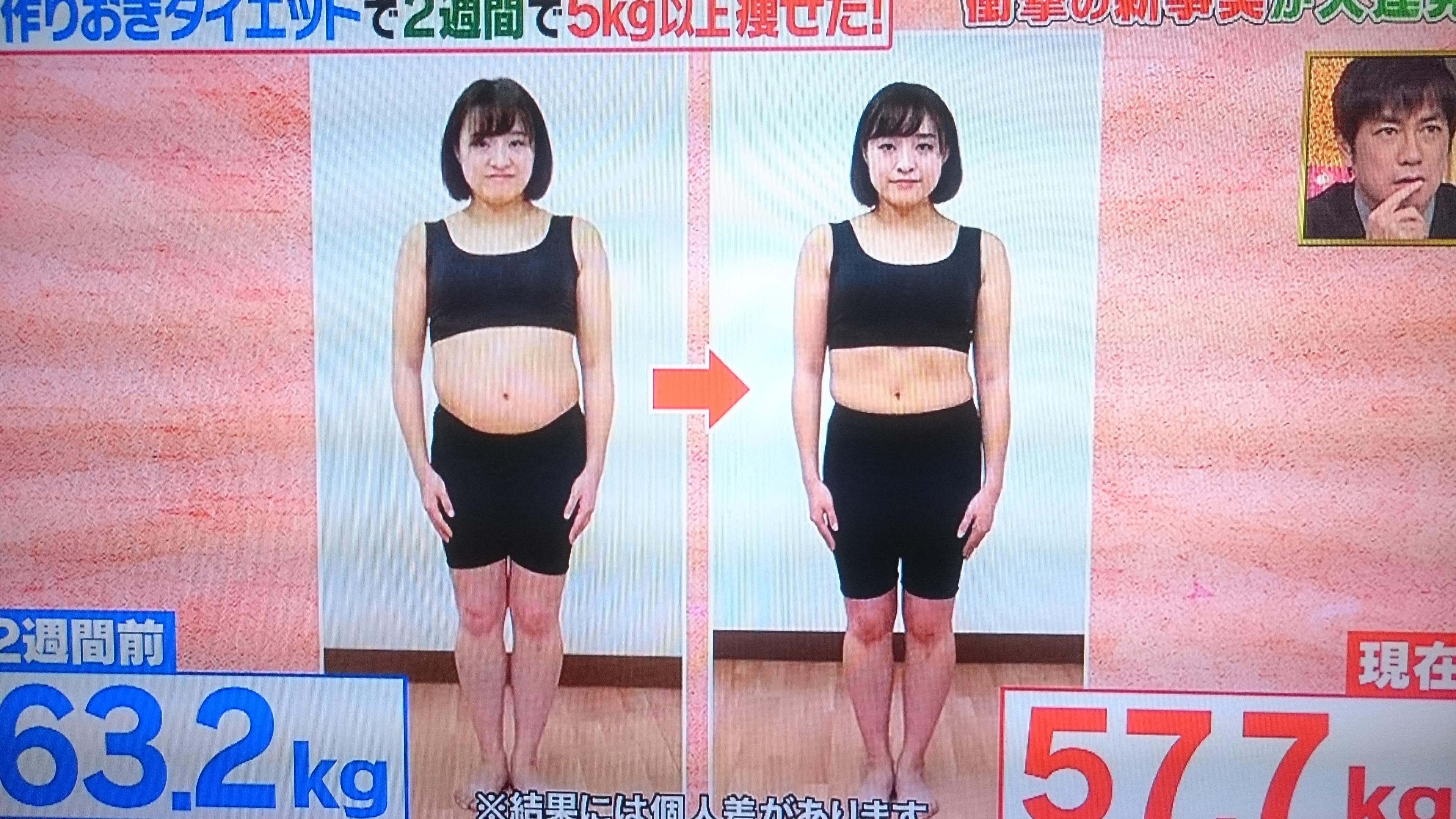 週間 痩せる 2 で