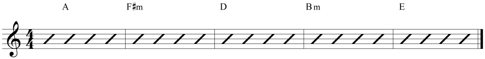 medium resolution of key of a chord pattern example
