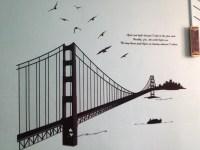 Golden gate bridge wall decals | Lyla's