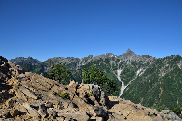 表銀座縦走コース ビックリ平 槍ヶ岳方面の眺め