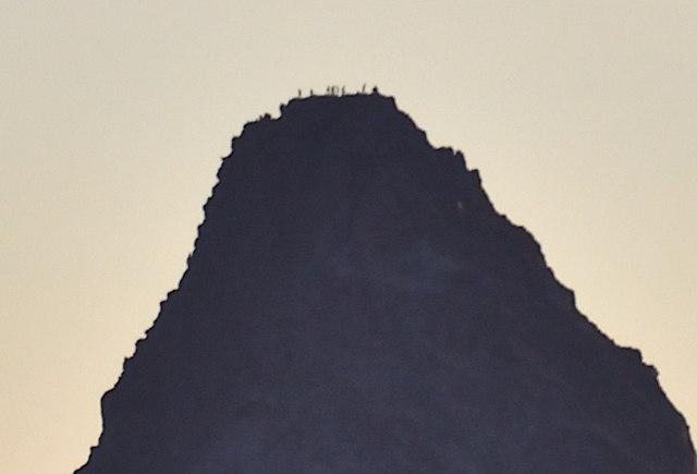 大天井岳からの眺め 槍ヶ岳方面