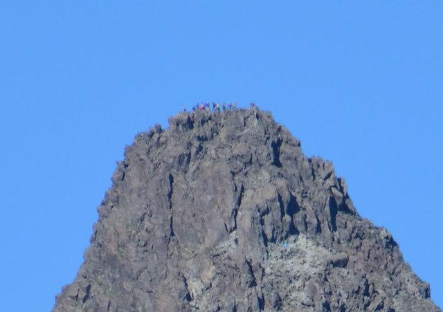 表銀座縦走コース ビックリ平 槍ヶ岳山頂方面の眺め
